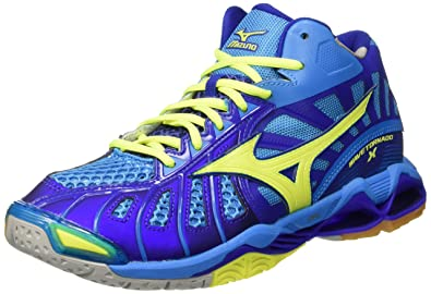 sneakers for cheap 9155e 3064b Mizuno Men s Wave Tornado Mid Volleyball Shoes Blue Size  7