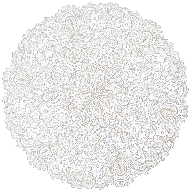 Plauener Spitze by Modespitze 67952 Design Plauen, Gre 60 cm rund, creme
