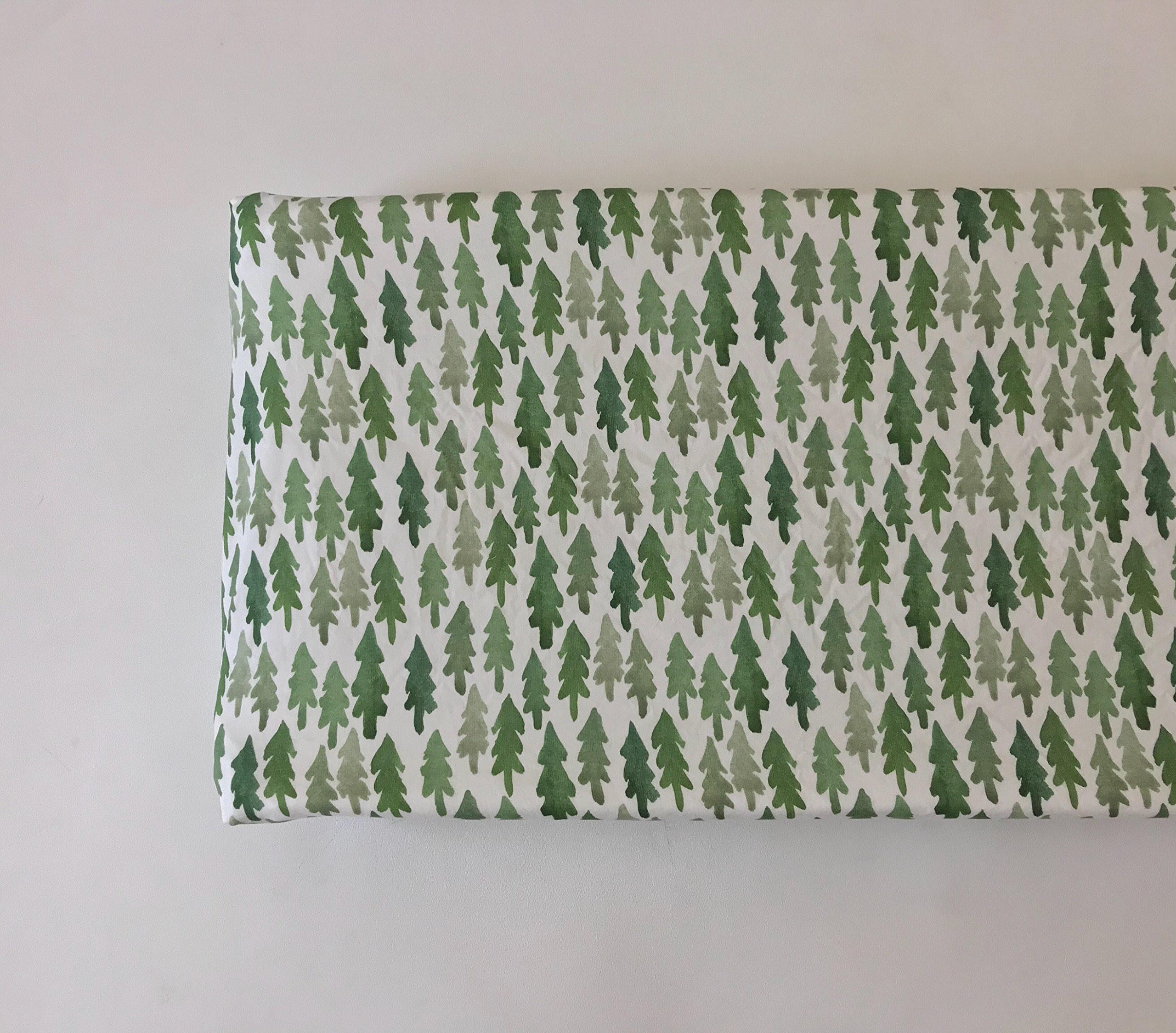 Changing Pad Cover - Green Trees
