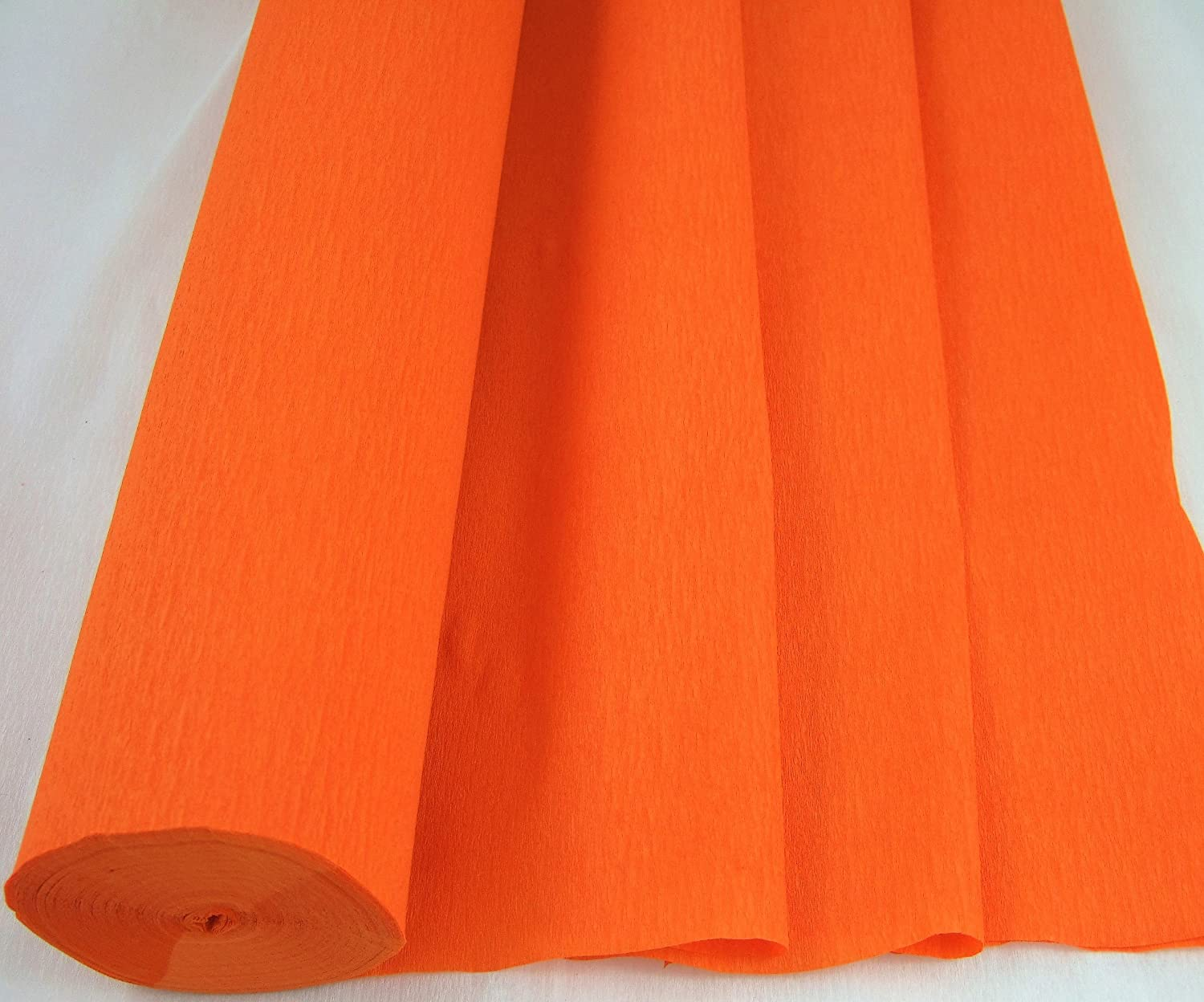 1 Orange - Jumbo 26 Metre Crepe Paper Roll. 50cm x 26metres long Many uses as decorations, marketing tools, great favourite with schools and the craft industry Clikkabox Crepe C60V