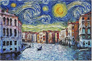 Venice, Italy - Starry Night - Van Gogh (Premium 1000 Piece Jigsaw Puzzle for Adults, 20x27, Made in USA!)