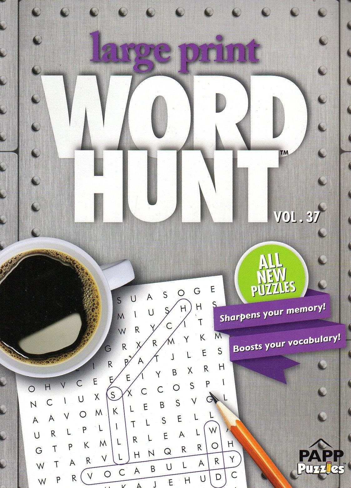 Download Large Print Word Hunt - All New Puzzles - (2017) - Vol.37 pdf epub