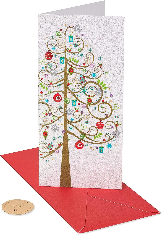 Papyrus Greeting Christmas Money Enclosure Card Sending A Little Merry ~Cute