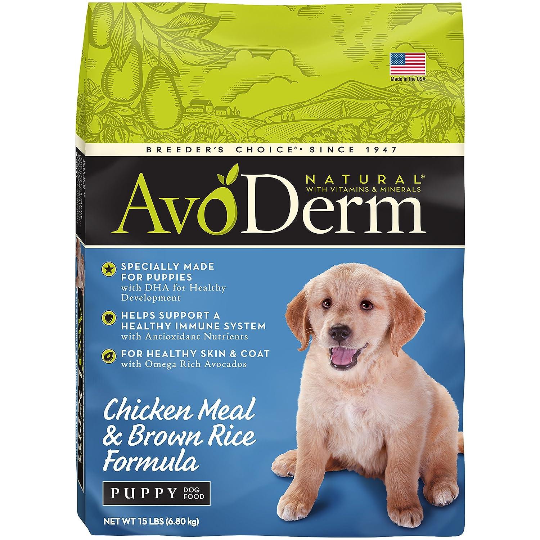 AvoDerm Natural Puppy Dry Wet Dog Food, DHA For Brain Eye Development, Chicken Brown Rice Formula