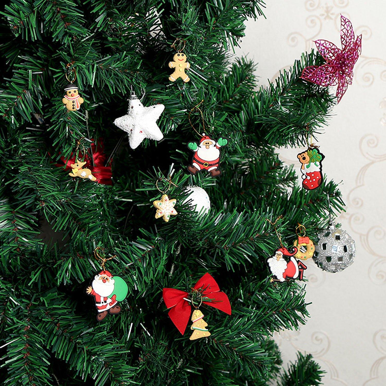 Amazon.com: 10pcs Navidad Xmas estilo Imán para nevera imán ...