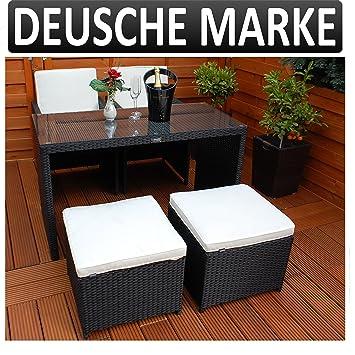 Amazon.de: Gartenmöbel PolyRattan DEUTSCHE MARKE - EIGENE PRODUKTION ...