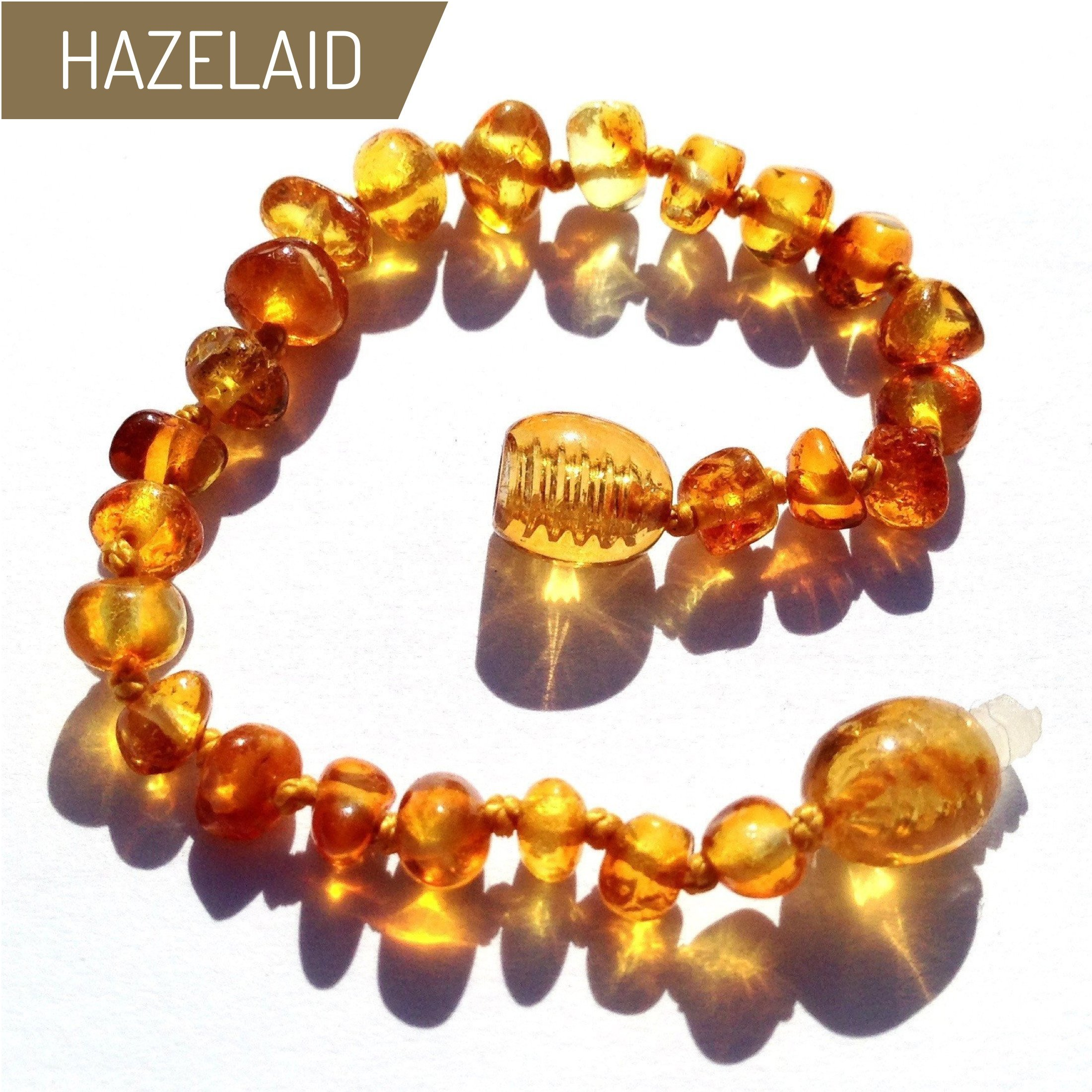 Hazelaid (TM) 5.5'' Baltic Amber Honey Bracelet