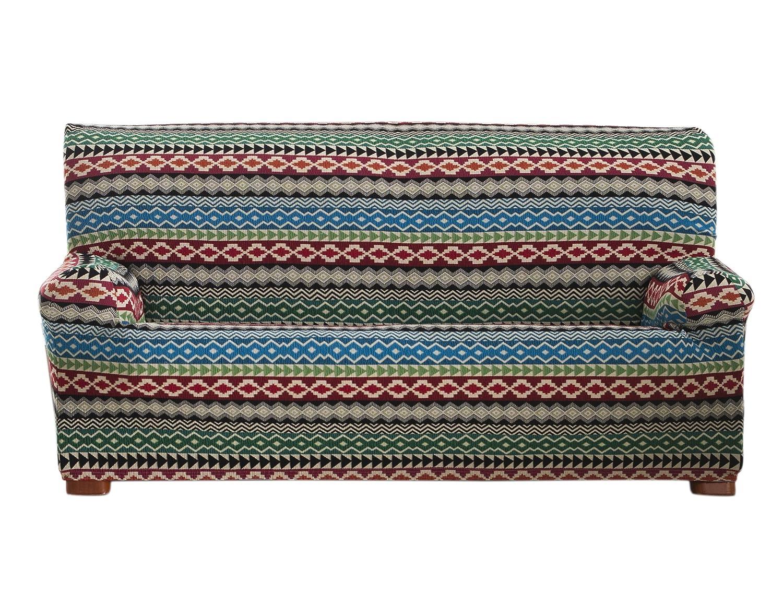 Eysa Kilim – Sofabezug, elastisch, Blau 3 Plätze blau