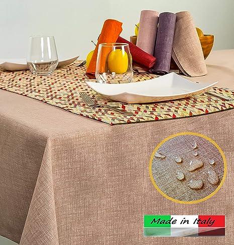 Angelsartory Tovaglia Antimacchia Cerata Copritavolo Tovaglie Rettangolare  Impermeabile Antistiro Cotone Tessuto Fantasia Da Tavolo Per Cucina ...