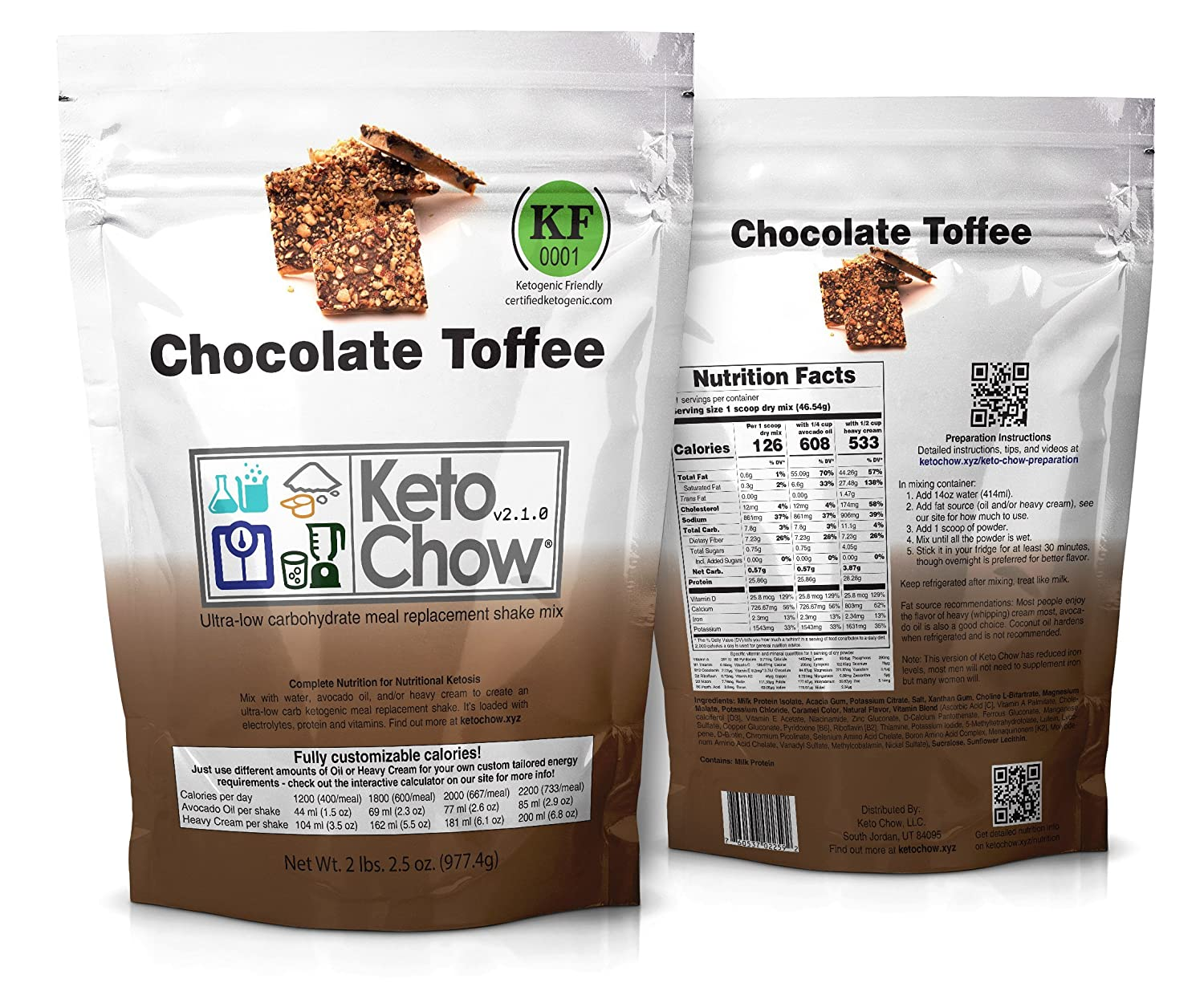 Keto Chow Keto Meal Replacement Shake package