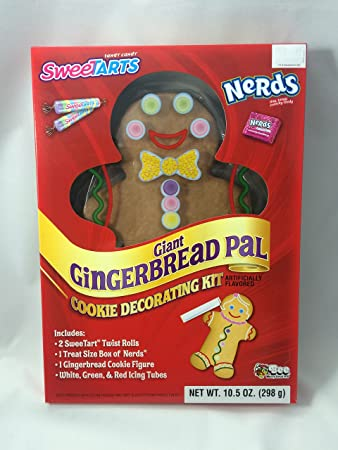 Amazon Com Gingerbread Man Cookie Decorating Kit With Sweettarts