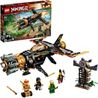 LEGO 71736 NINJAGO Legacy Boulder Blaster Aeroplane Toy with Prison and Collectible Gold Ninja Kai Figure