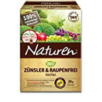 Naturen Zünsler und Raupenfrei XenTari, Hoch wirksames biologisches Präparat zur Bekämpfung von Buchsbaumzünsler an Buchsbäumen und Schadraupen an Zierpflanzen, Obst, Gemüse