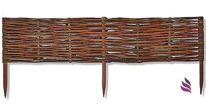 AKTION Rasenkante 120 x 20 cm aus Holz imprägniert Beeteinfassung Steckzaun