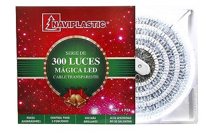 128a6256b46 NAVIPLASTIC Serie DE Luces 300L Magica LED Blanco Cable TRANSP. EN EXHIB
