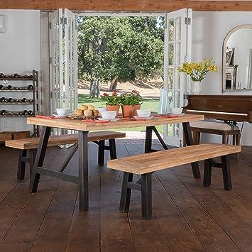 Arlington Brushed Grey Acacia Wood Dining Set