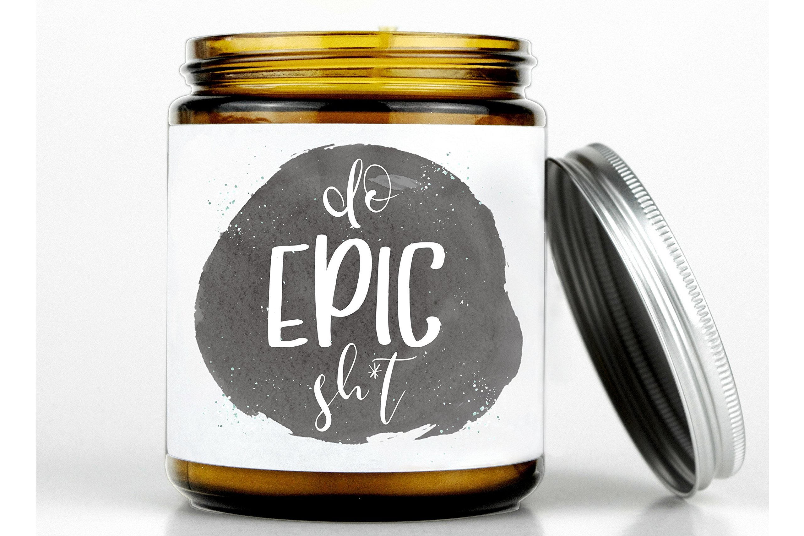 Do epic sht candle, funny graduation gift, graduation gift for her, college graduation gift, nursing grad gift, 100% natural beeswax candle by Bountiful Giving Tree (Image #1)