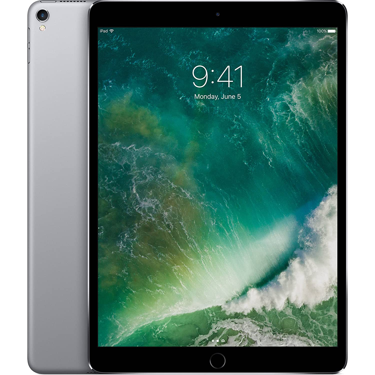 Apple iPad Pro 10.5in with ( Wi-Fi + Cellular ) - 2017 Model - 256GB, SPACE GRAY (Renewed)