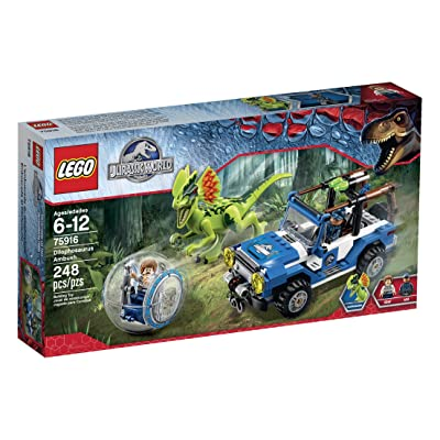Lego Jurassic World Dilophosaurus Ambush 75916 Building Kit: Toys & Games