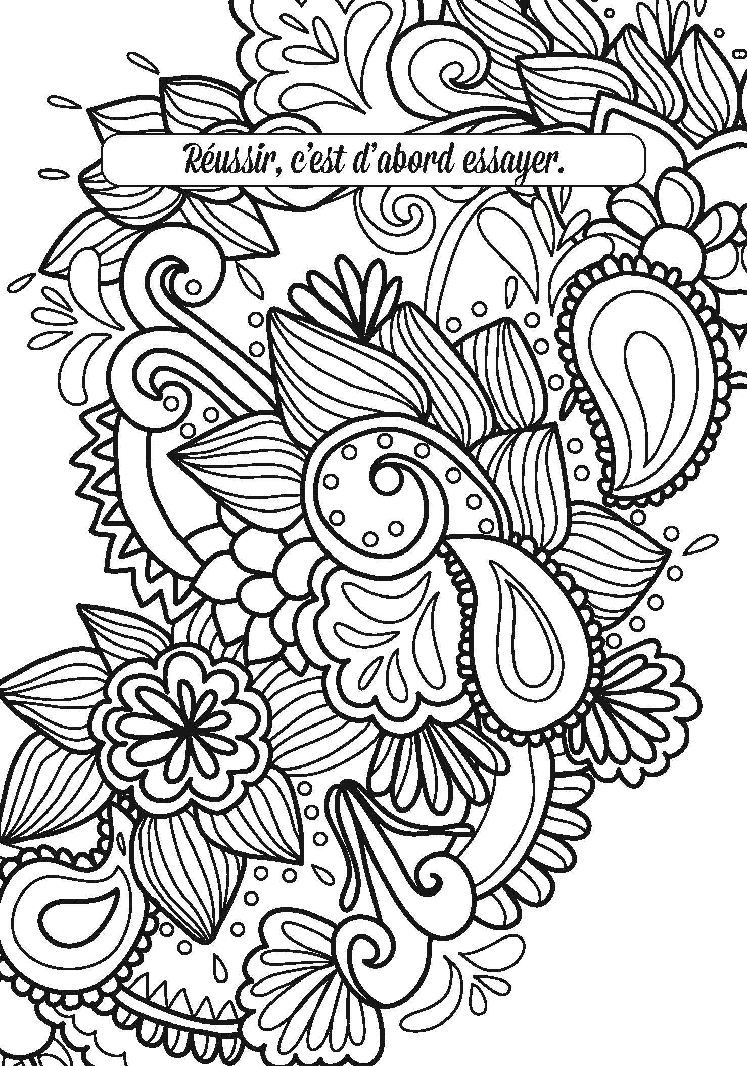 coloriage anti stress message