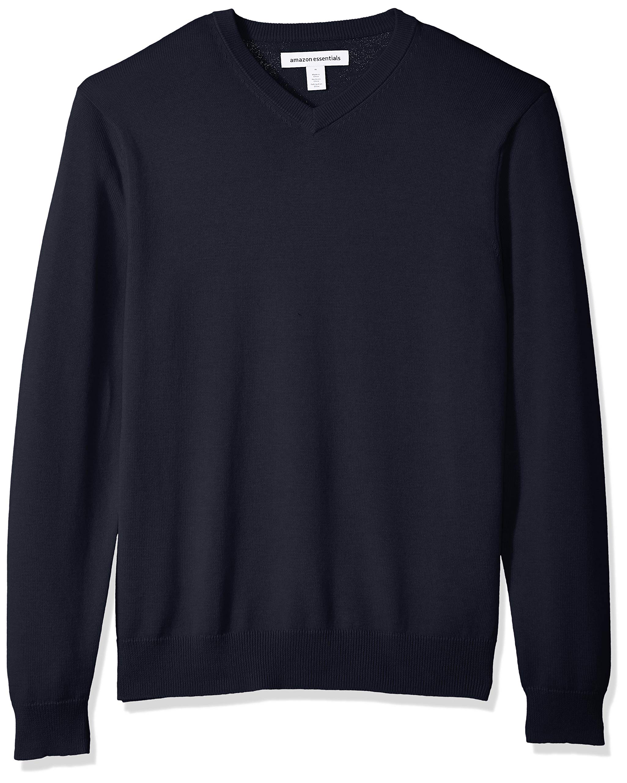 Amazon Essentials Men's V-Neck Sweater, Navy, Medium by Amazon Essentials