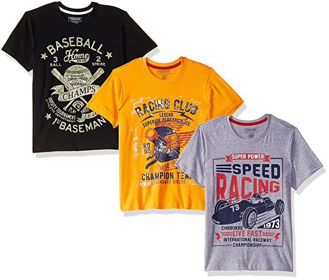 a73a522fe20 Cherokee by Unlimited Boys  Plain Regular Fit T-Shirt (Pack of 3 ...