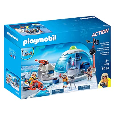 PLAYMOBIL Arctic Expedition Headquarters, Multicolor: Toys & Games