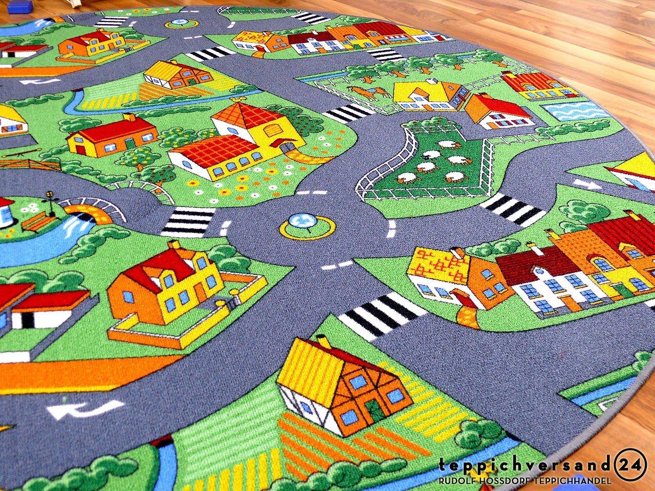 Kinder Spielteppich Little Village 160 160 160 cm Ø Rund B00CBNYG4U Teppiche & Lufer 26d978