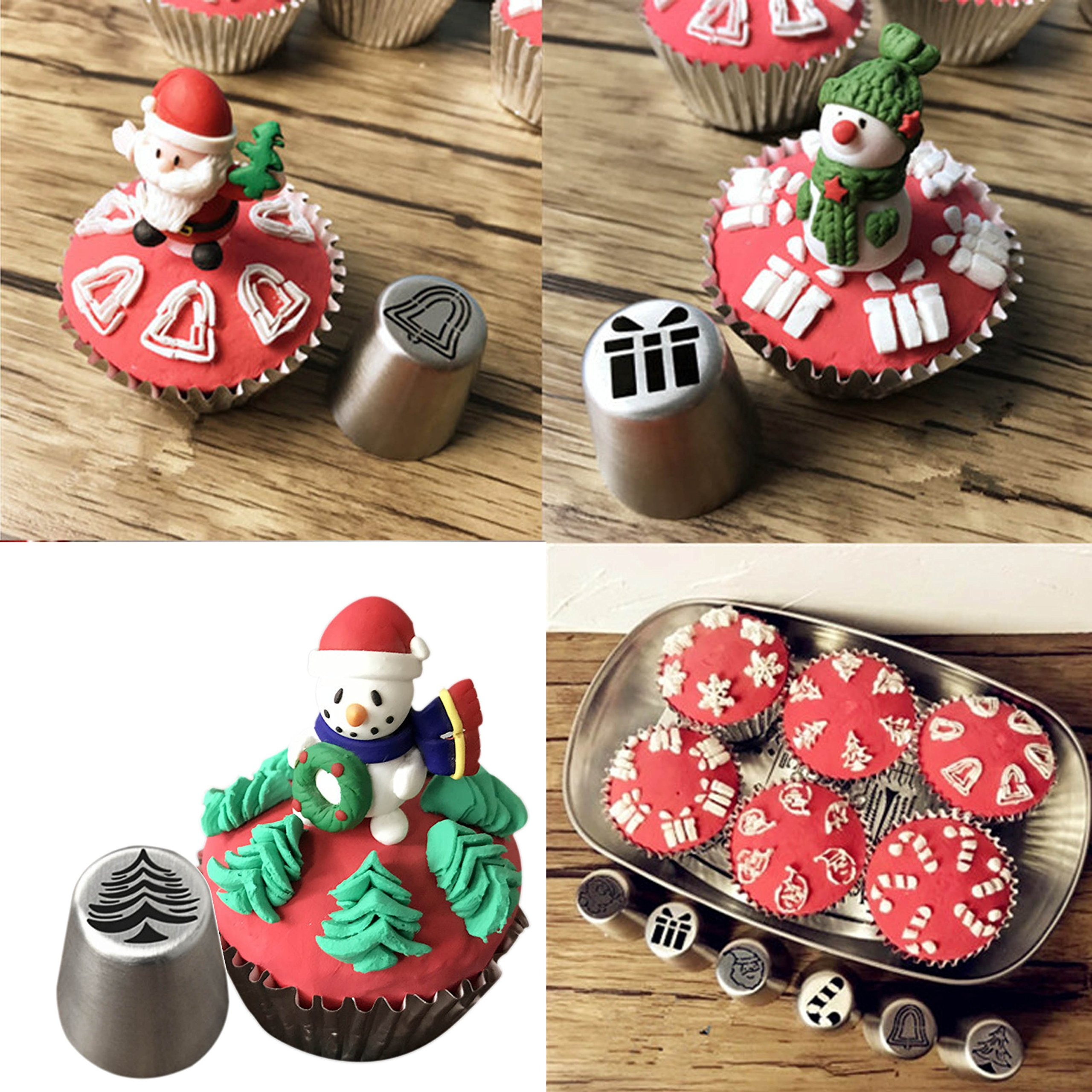 JJMG NEW Russian Icing Piping Tips Christmas Design For Cakes Cupcakes Cookies - Decoration Pastry Baking Tools by JJMG (Image #2)