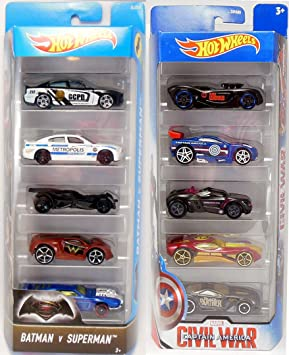 Captain America + Batman VS Superman Hot Wheels - Exclusive Car ...
