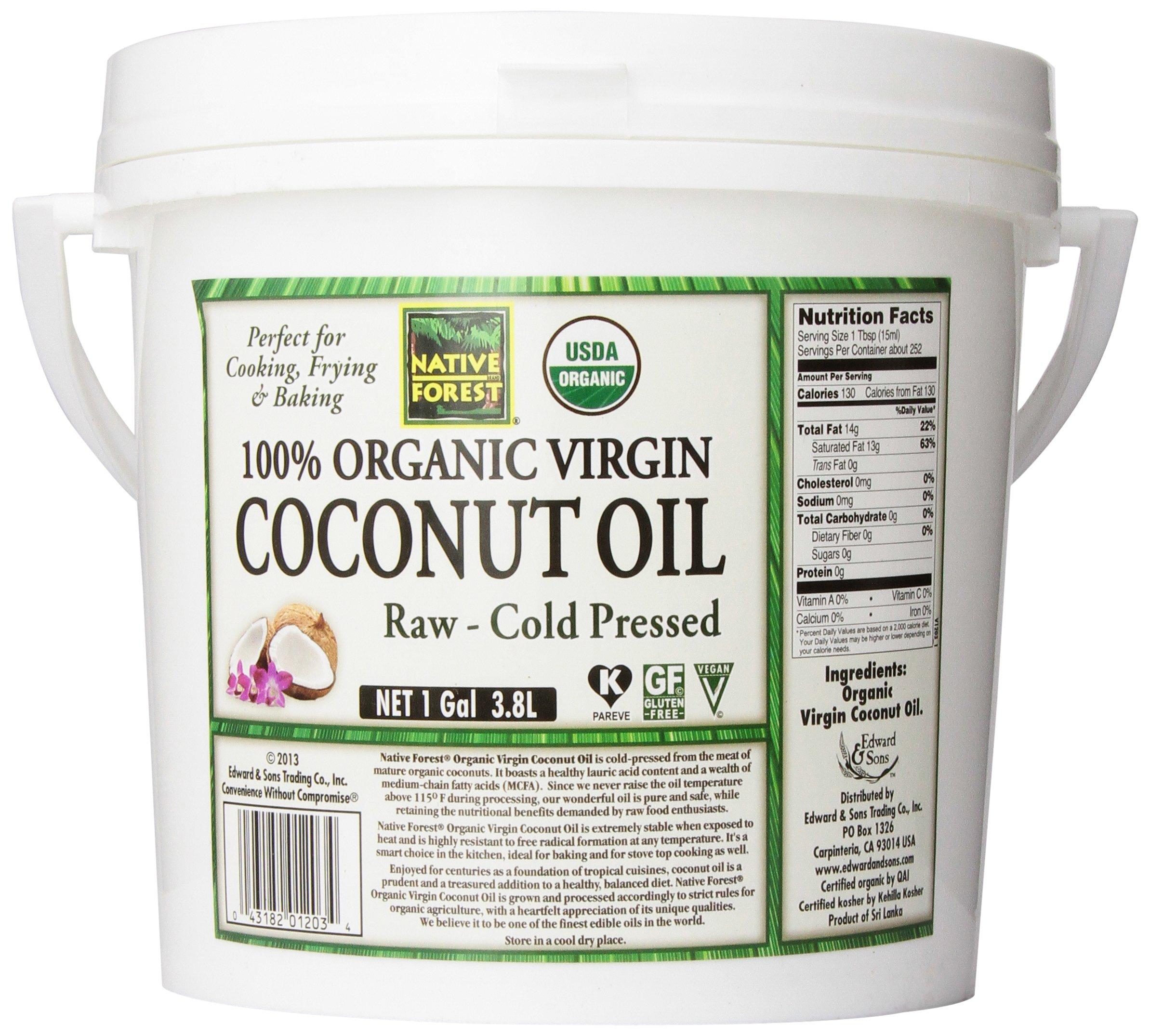 Native Forest 100% Organic Raw Virgin Coconut Oil, 128 Ounce