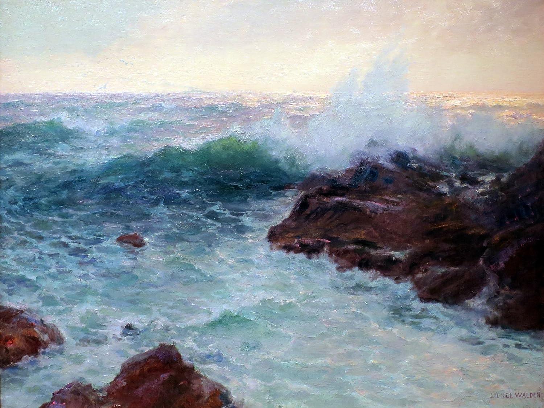 Seascape Hawaiian rock by L Walden Tile Mural Bathroom Backsplash ...
