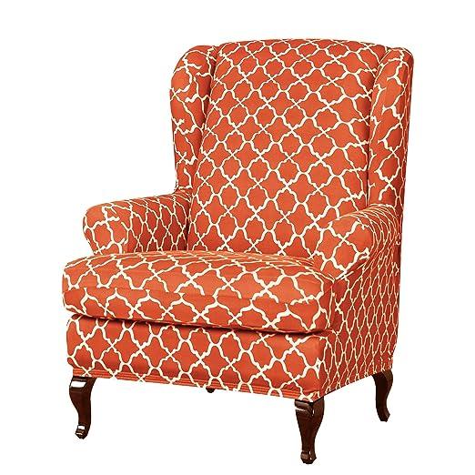subrtex - Funda elástica para sillón orejero con diseño de ...