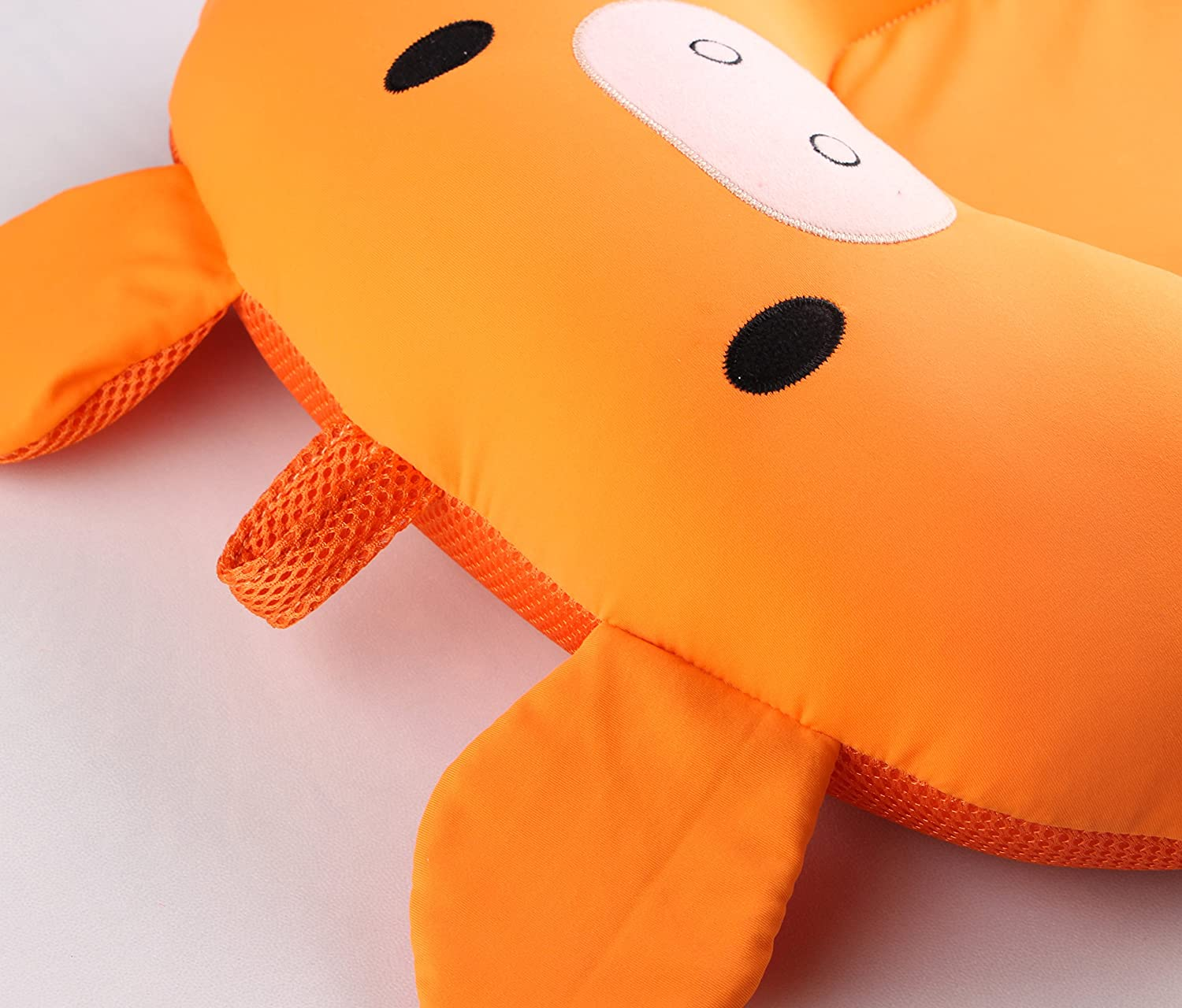 Floating Baby Bath Cushion Soft Bath Tub Support Pillow Pad for Baby Infant from 0-6 Month Orange Baby Bath Pillow