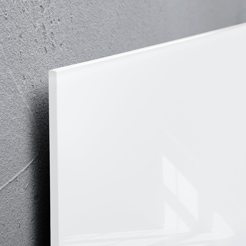 SIGEL GL158 Pizarra de cristal magnética Artverum, blanco, 30x30 cm