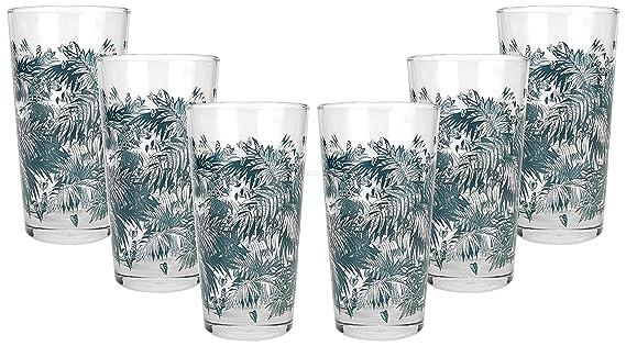 Bacardi Glas Tumbler Gläser Set Bar-Gläser für Sammler Reklame & Werbung für Sammler 6x Tumbler