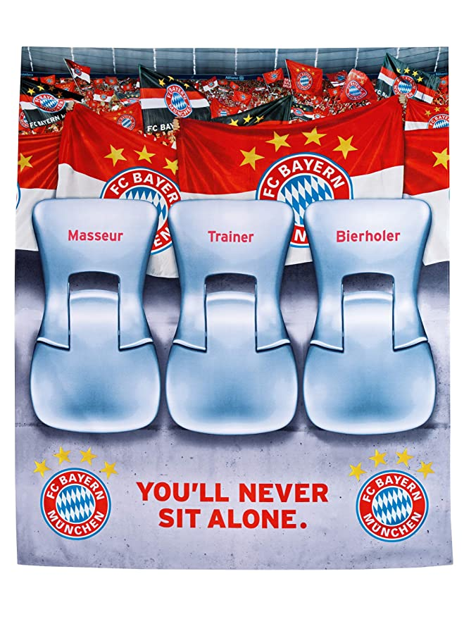 Fc Bayern München Sofaüberwurf Stadion 140x170 Cm Tagesdecke