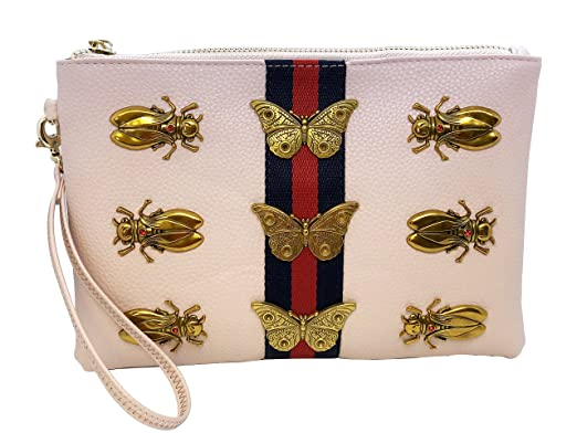 46d294388b5f Image Unavailable. Image not available for. Color: Inzi Inspired Bees  Butterflies belt bag Pink