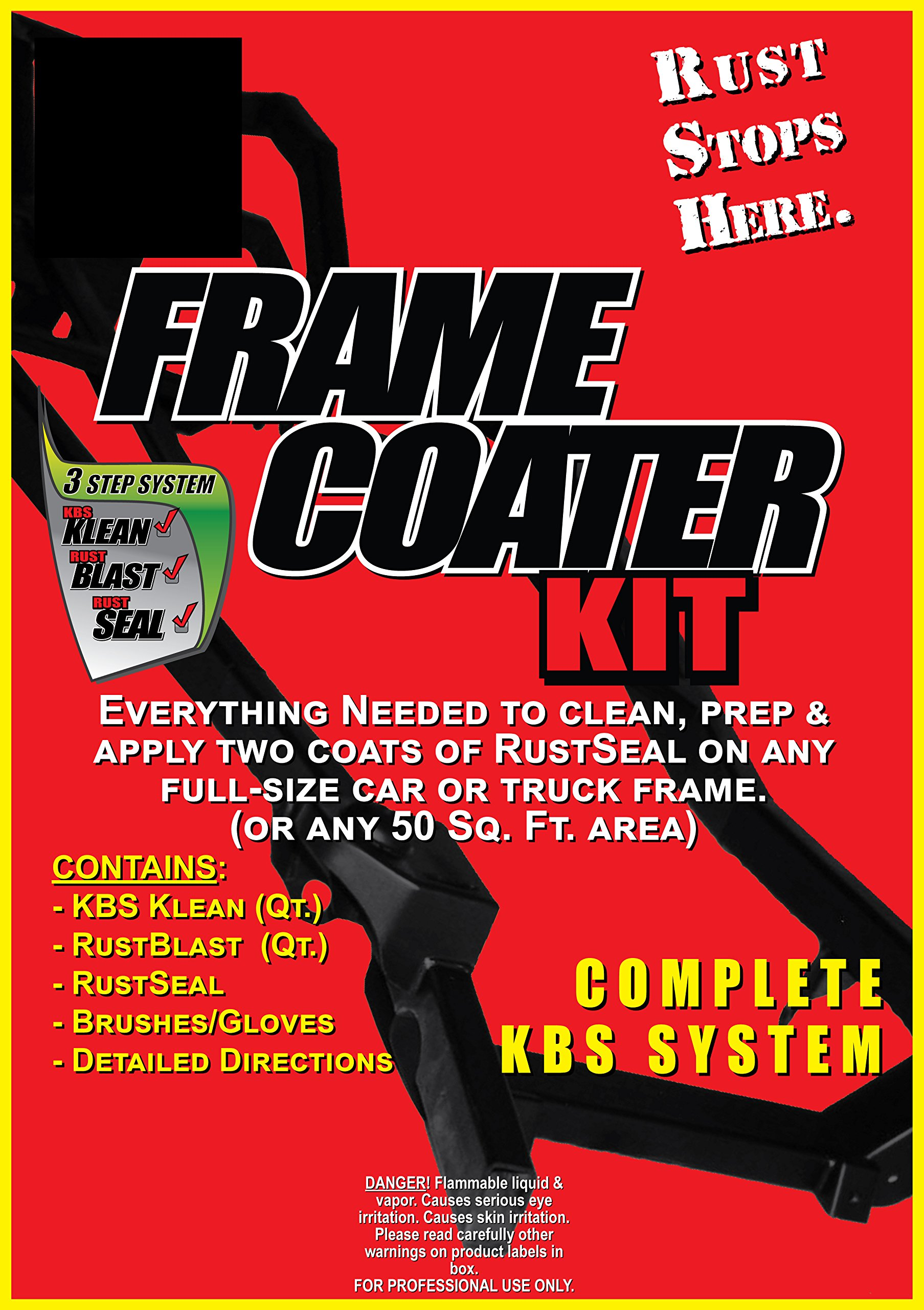 KBS Coatings 57007 Green Frame Coater Kit, Preps and Coats Entire Car or Truck Frame