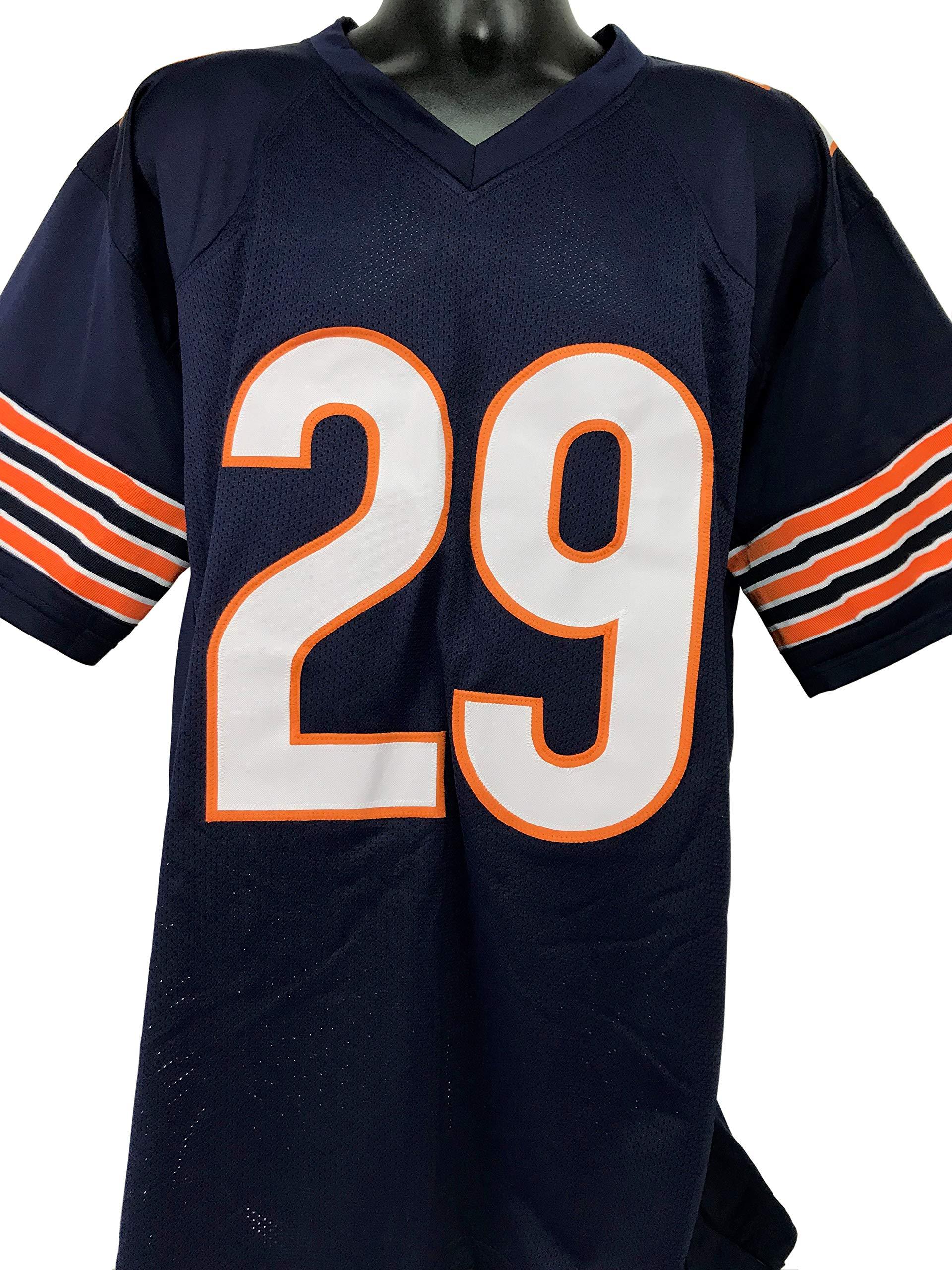 Tarik Cohen Autographed Chicago Bears Blue Custom Jersey w/JSA COA