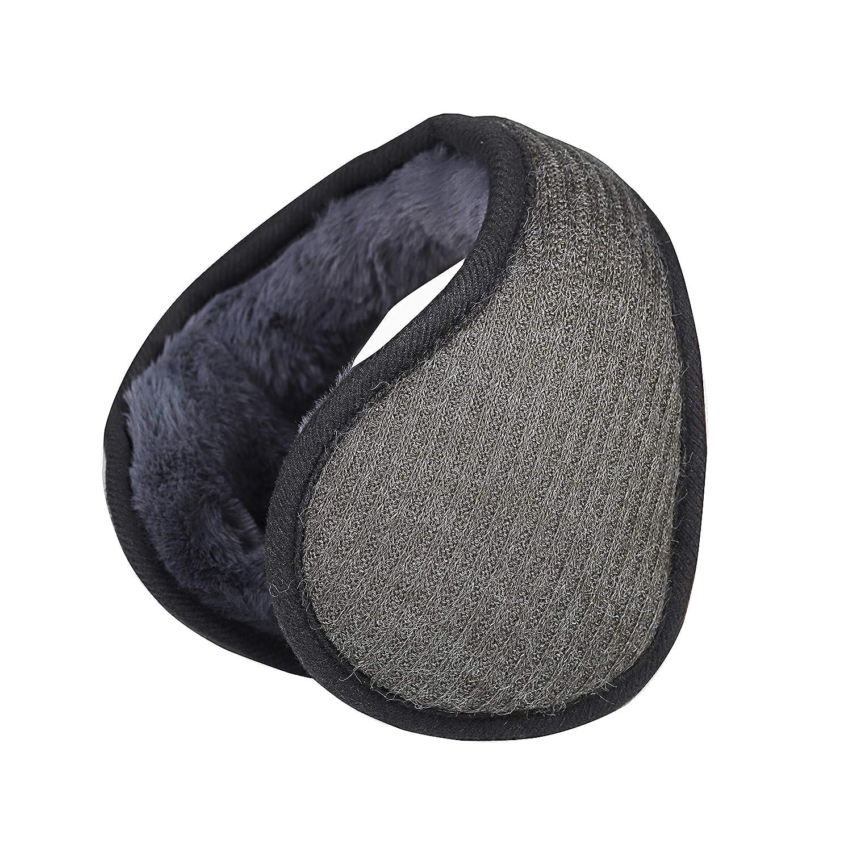 Unisex Foldable EarMuffs,Knit Cashmere Winter Ear Warmers