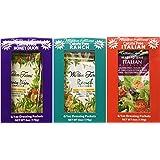 3 Boxes (18 Packets): Walden Farms Salad Dressing 1 Oz Packets (1 Box- Ranch; 1 Box- Italian; 1 Box- Honey Dijon)