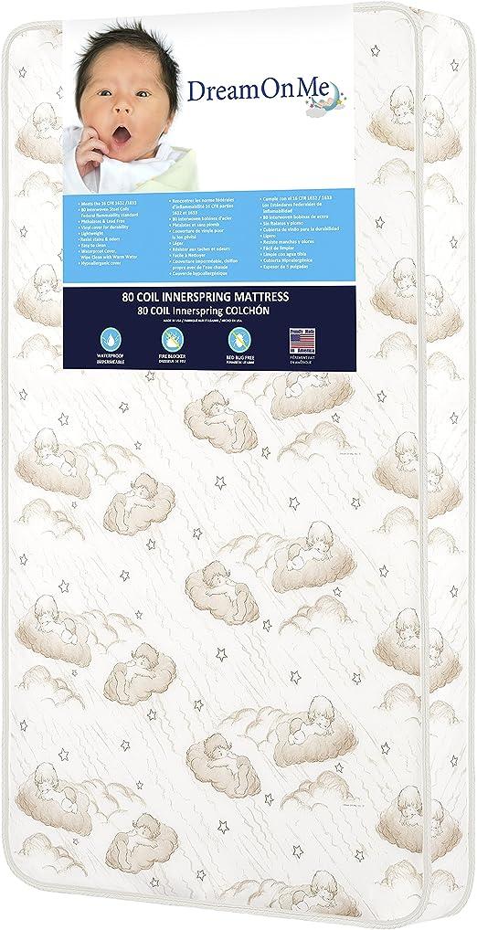 Crib Mattress Nursery Baby Breathable Waterproof Cradle Pram Swing Mattress 90 x 40 x 4 cm