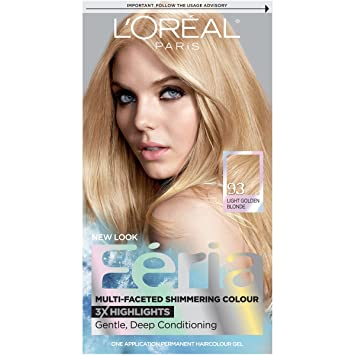 Captivating Lu0027Oréal Paris Feria Permanent Hair Color, 93 Candle Glow (Light Golden  Blonde Photo
