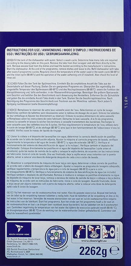 Finish Classic Regular Pastillas para Lavavajillas - 125 Pastillas: Amazon.es: Salud y cuidado personal