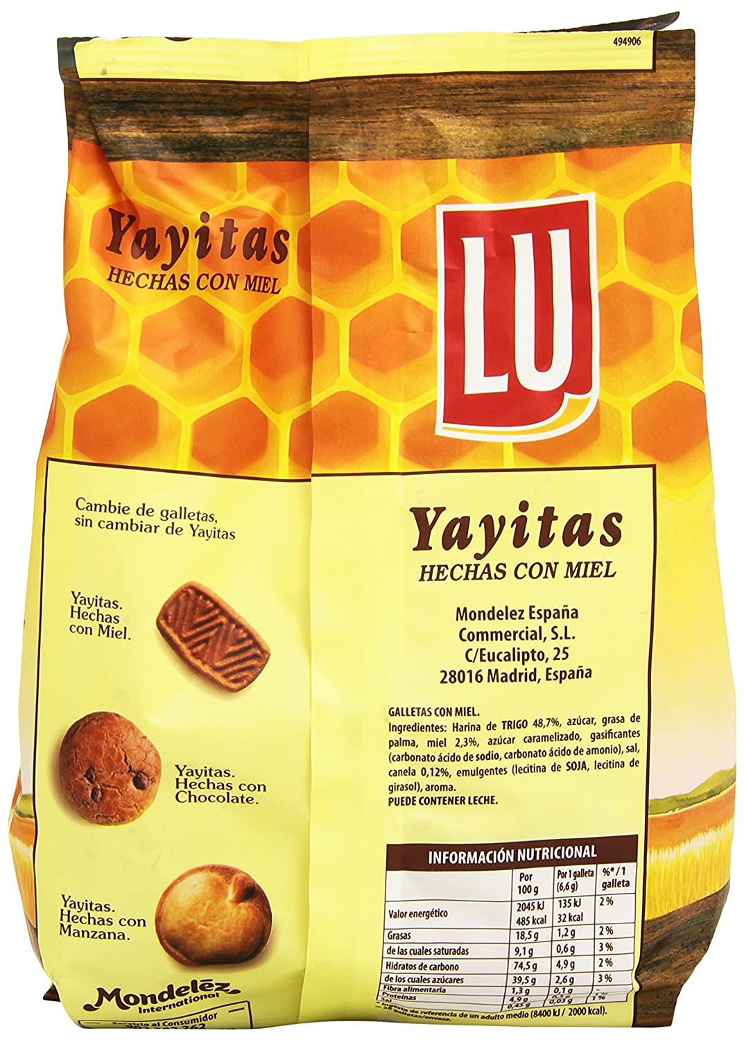 Lu Yayitas Galletas con Miel - 250 g: Amazon.es: Amazon Pantry