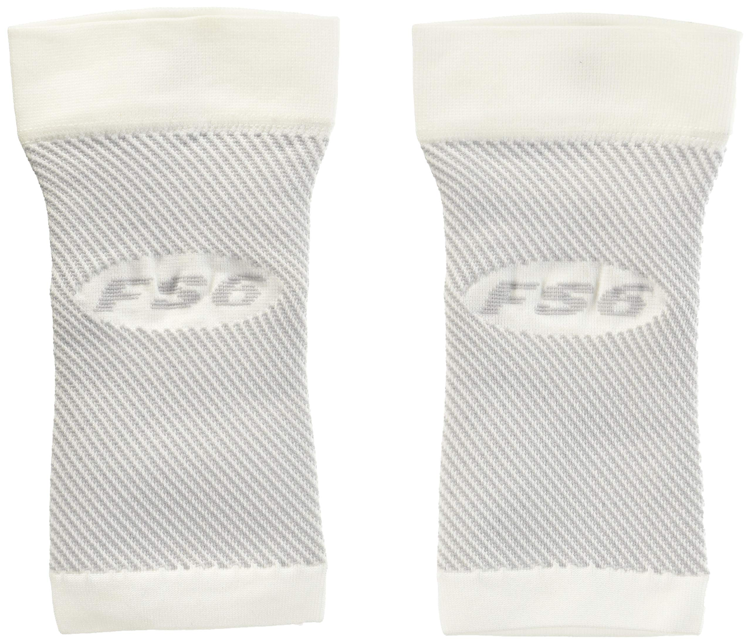 OrthoSleeve FS6 Compression Foot Sleeve (Pair), White, Medium by OrthoSleeve