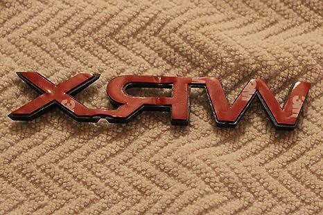 Original Subaru Sti Izquierdo Ala Placa Guardabarros Emblema para Impreza