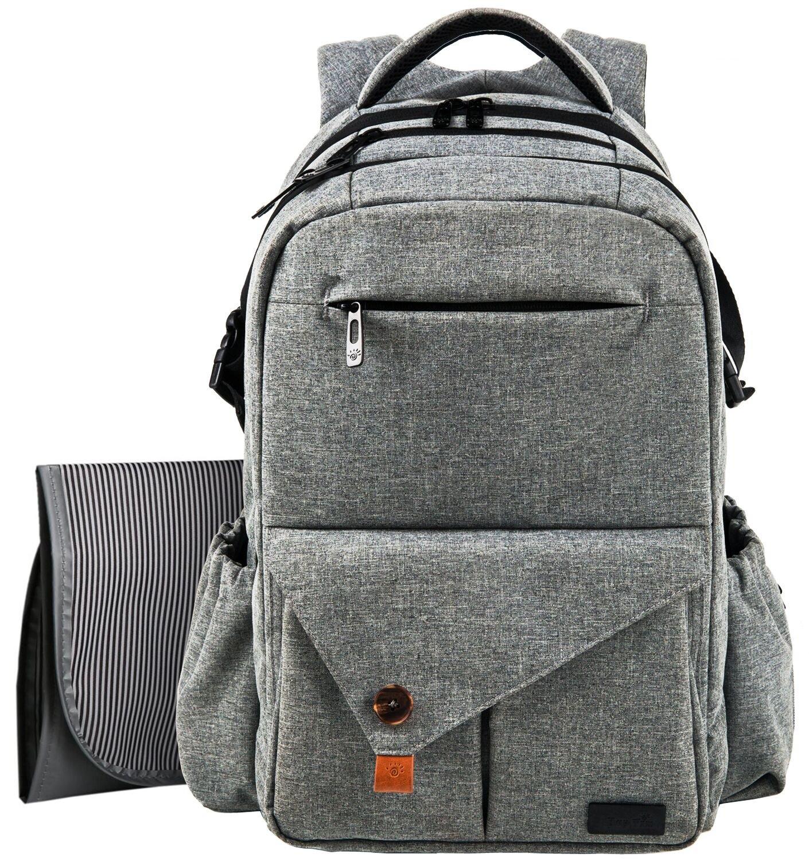 Hap Timマザーズバッグ リュック 大容量 防水多機能 ベビーバッグ ママのバックパック 旅行(5284gray) B06XC2FGPP gray gray
