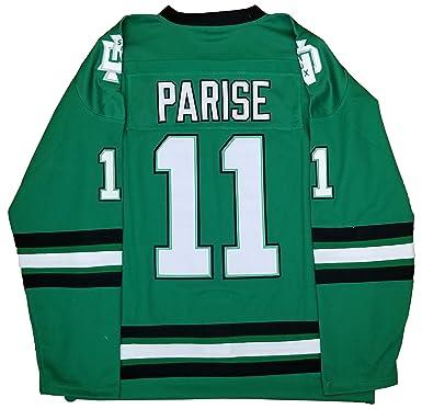 Amazon.com  Zach Parise North Dakota Sioux Green Jersey Men  Clothing b64c0250590